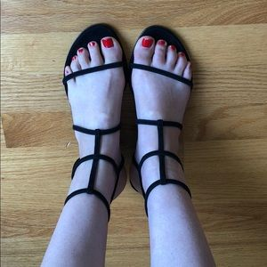 Alexander Wang Black Strappy Sandals